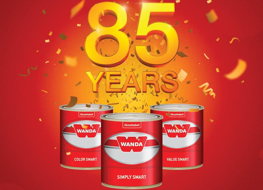 AkzoNobel świętuje 85 lat marki Wanda z kobietą o tym samym imieniu, która jako pierwsza zainspirowała powstanie tej marki